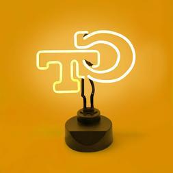 GEORGIA TECH YELLOW JACKETS NEON SIGN LIGHT TABLE TOP LAMP U