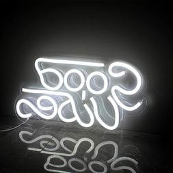 Good Vibes Neon Sign Led Neon Wall Signs Neon Sign Lights Wh