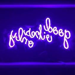 "LiQi Good Vibes ONLY Purple Neon Sign (13"" x7.5"" Large)R"
