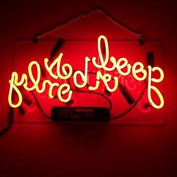 LiQi ' Good Vibes ONLY' Real Glass Handmade Neon Wall Signs