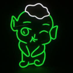 Green White Art LED Decorative Neon Pig Sign Night Lights Ki