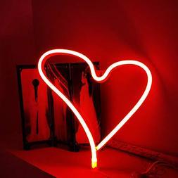 Heart Neon Light LED Neon Sign Neon Light Art Decorative Lig