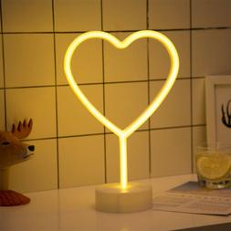 Heart Shaped Neon Night Lights USB & Battery Powered Neon Si