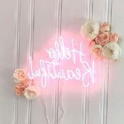 Hello Beautiful Neon Sign Acrylic Light Glass Bedroom Artwor