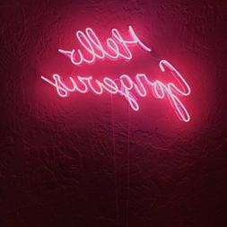Hello Gorgeous Neon Light Sign Acrylic Bedroom Artwork Glass