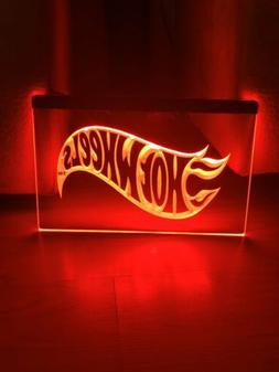 HOT WHEELS LED NEON LIGHT SIGN 8x12