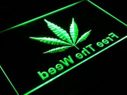 i269-g Free The Weed Hemp Marijuana Bar Neon Light Sign