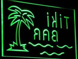 i787-g Tiki Bar Palm Tree Island Display Wall Decor LED Neon