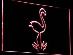 i828-r Flamingo Animals Display Logo Neon Light Sign