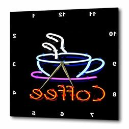 3dRose image of Neon Sign with Word Coffee and Coffee Cup -