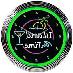 Neonetics Island Time Neon Wall Clock, 15-Inch