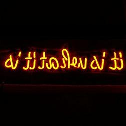 """LiQi ' It is What it is""""' Real Glass Handmade Neon Wall Sign"""