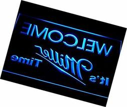It's Miller Time Welcome Bar LED Neon Light Sign Man Cave A2