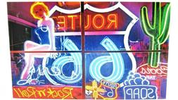 Jigsaw Puzzle 300 Pieces New ~ Neon Signs On Route 66