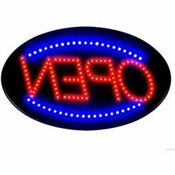 Jumbo 24&quot X 13&quot LED Neon Sign With Motion -&quotOPEN