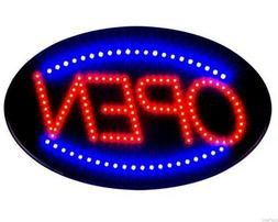 Jumbo 24quot x 13quot LED Neon Sign with Motion - quotOPENqu