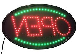 """Jumbo 24"""" x 13"""" LED Neon Sign with Motion -""""OPEN""""  B30"""