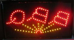 "Jumbo 24"" x 13"" LED Neon Sign -""BBQ"""
