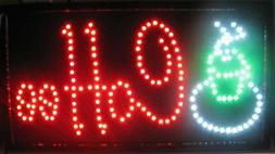 "Jumbo 24"" x 13"" LED Neon Sign with Motion - ""Coffee"" with Ac"