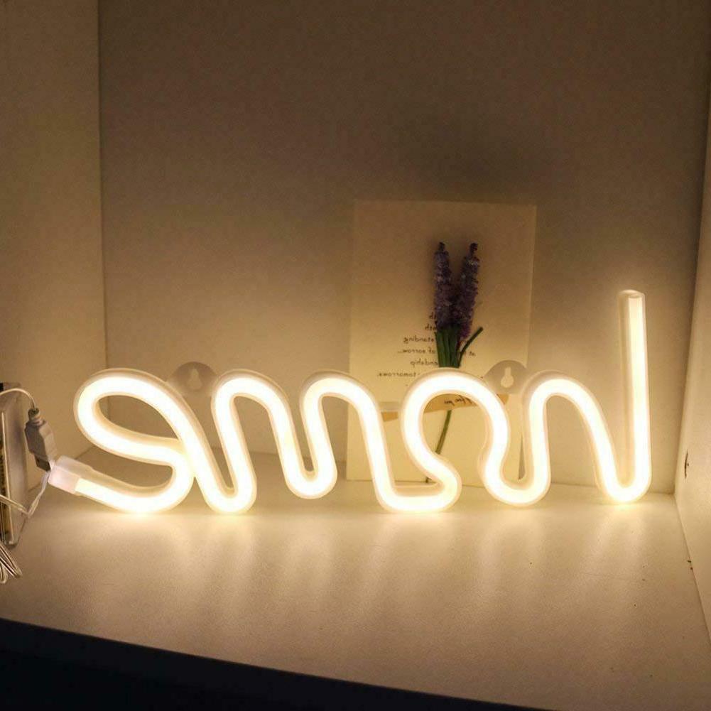 Nightlight USB/Battery Neon Sign Party Decor LED Night Lamp US