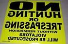 """50 Pack Neon Bright Yellow 8"""" x 7"""" No Hunting or Trespassing"""