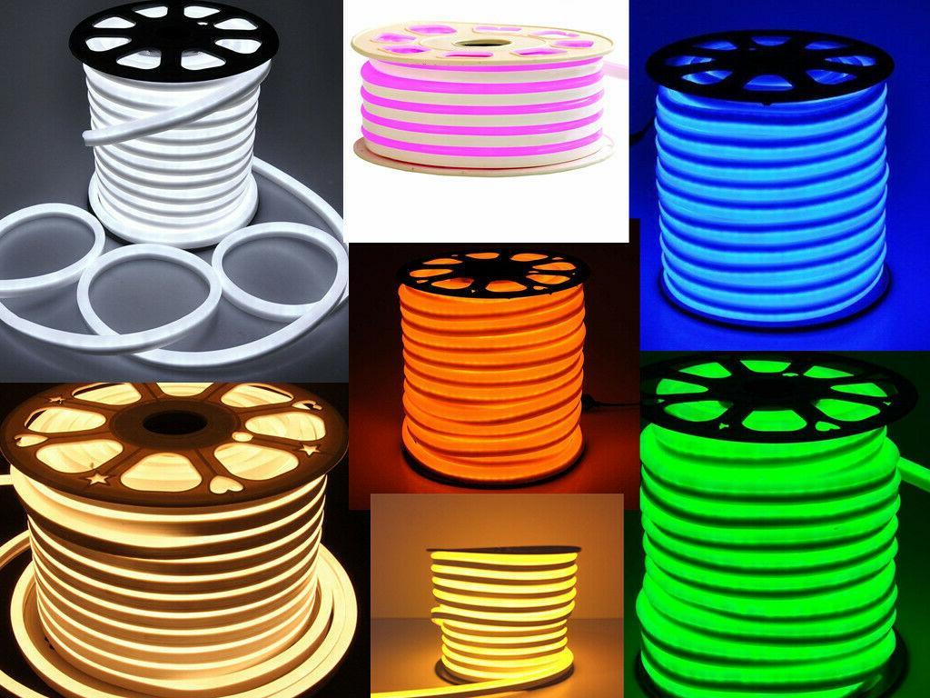 100ft led flex neon rope light building