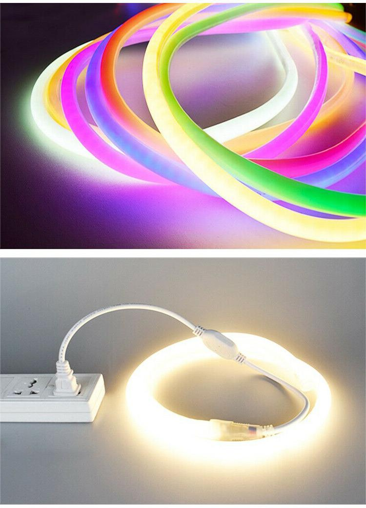 110V LED Rope Light Pink DIY AD Home Outdoor Party