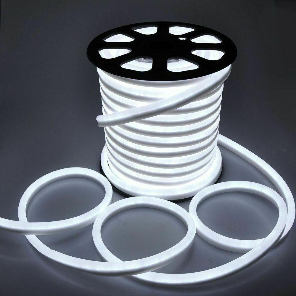 100ft LED Flex Rope Garden Decor Outdoor 110V