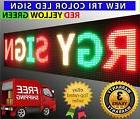 """12"""" x 125"""" Led Sign Programmable Outdoor Display Board Red G"""