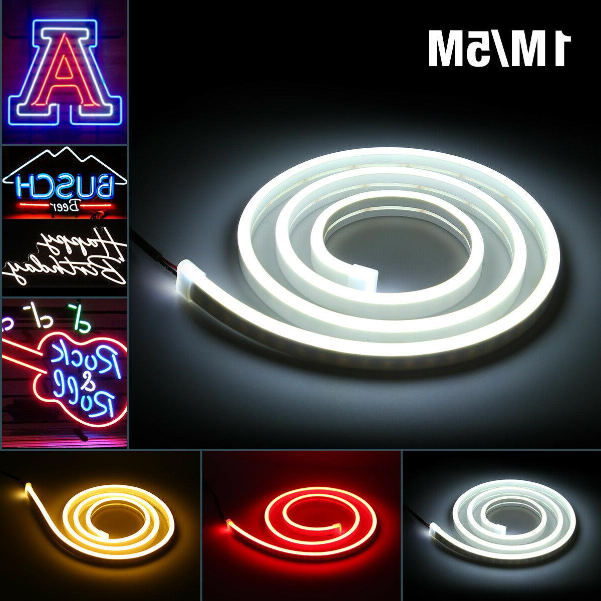 12V Flexible LED Strip Waterproof Sign Neon Lights Silicone