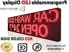 "15""x63"" OUTDOOR 10MM LED SIGNS PROGRAMMABLE RED TIME TEXT NE"