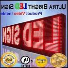 "15""x88"" NEW OUTDOOR P10 LED SIGNS PROGRAMMABLE RED OUTDOOR T"