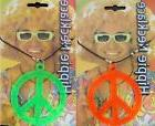 Peace Sign Bright Neon Green Or Orange Unisex 1970s Hippie F