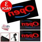 3 X Bright LED Open Sign Store Shop Club Business Neon Displ