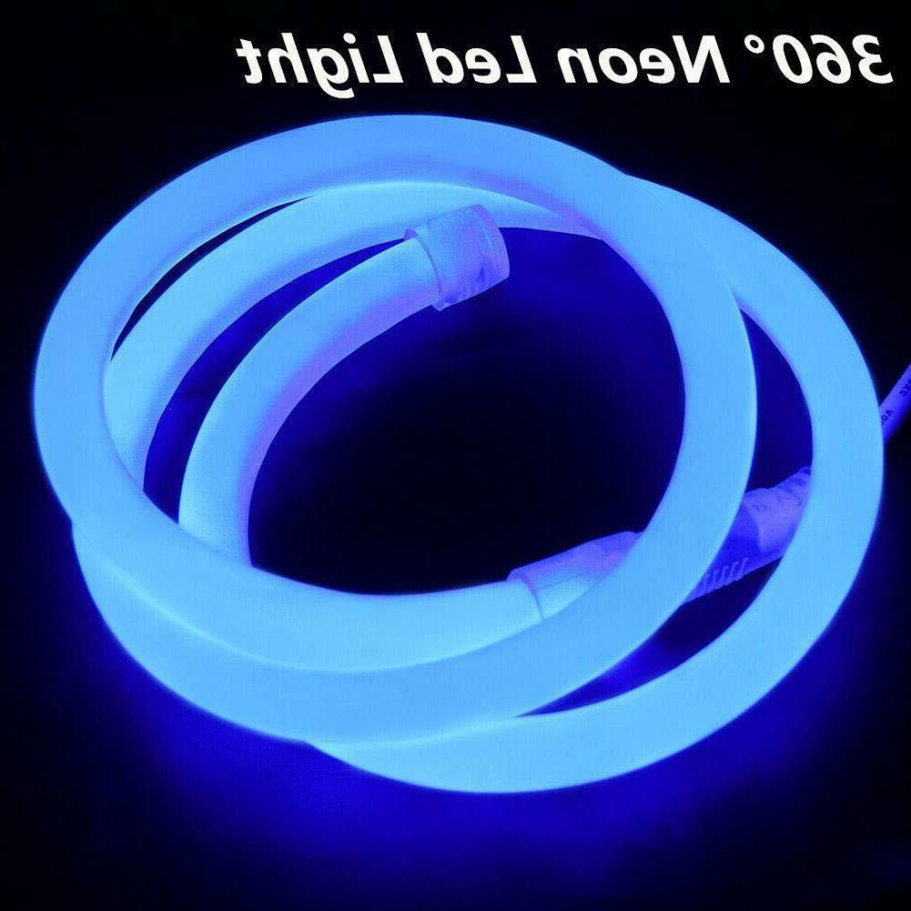360 Degree LED Neon Light Glow Garden Decor 110V - 150ft