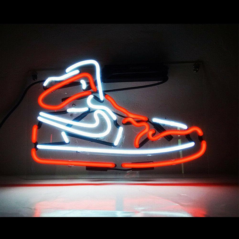 Air Jordan Sneakers RED Decorative Neon Light Sign 14''x8''