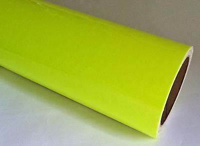 YELLOW NEON Fluorescent Sign Vinyl  12 inch x 10 Feet  high