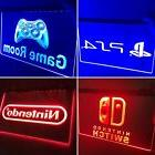 Arcade Set 4 LED Neon Signs PS4, Nintendo, Game Room & Ninte
