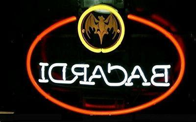 Bacardi Bat Rum Logo Neon Sign For Home Bar Pub 16x12
