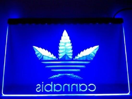 Cannabis Marijuana Weed High Life Neon Light Sign