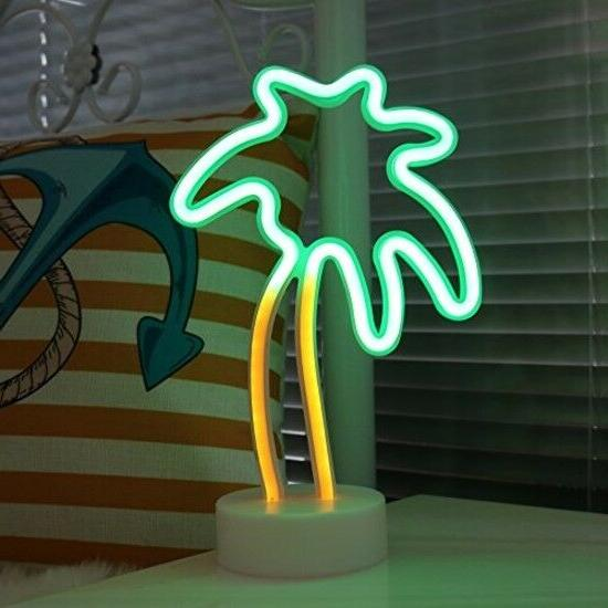 Coconut Palm Tree Neon Signs LED Neon Light Sign with Holder