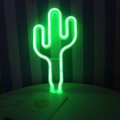DELICORE LED Cactus Neon Light Sign Wall Decor Night Lights