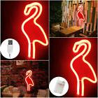 Flamingo Wall Hanging Lamp Bar Party Club Decor Neon Sign De