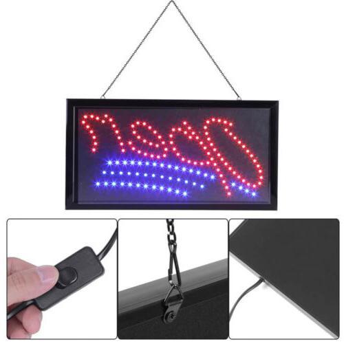 Flashing Motion LED Shop Sign Board Neon Light Window Door H