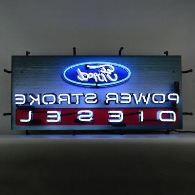 Ford Power Stroke Diesel Neon Sign With Backing By Neonetics