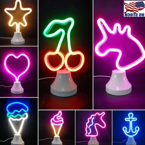 LED Lamp Neon Sign Desk Wall Lamp Mini Night Light Novelt