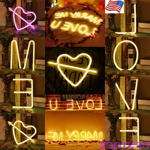 LED Neon Sign 26 Letters Light Poster Background Wedding Dec