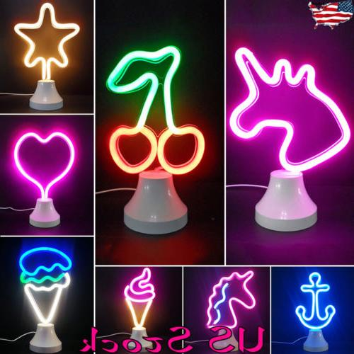 LED Neon Sign Desk Lamp Wall Lamp Night Light Background Wal