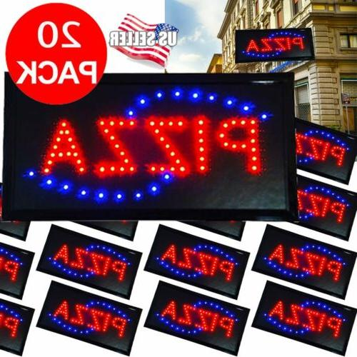 LOT 20  Bright Pizza Animated Motion LED Restaurant Sign Neo