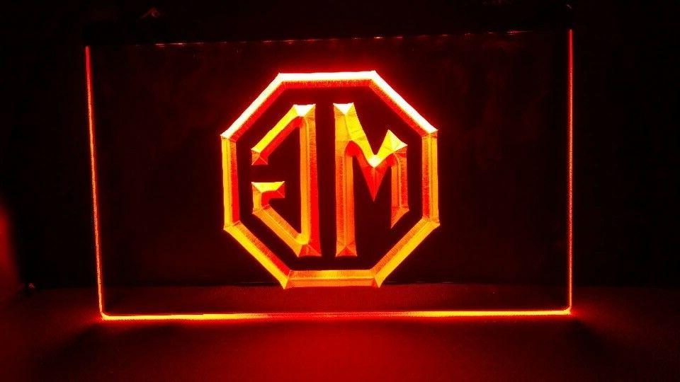 MG Morris Garage LED Neon sign night Light Man Cave Decor Wa